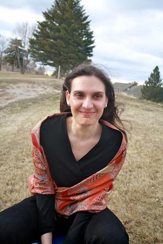 Jocelyn Eikenburg, smiling in a windswept