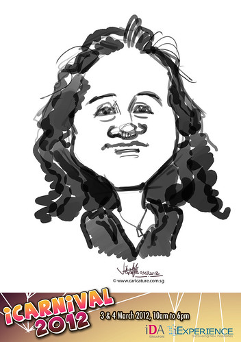 digital live caricature for iCarnival 2012  (IDA) - Day 1 - 65