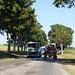 Curiosa combinación de antiguos camiones DAF (holandés), Hino (Japonés) y un tractor ruso adquiridos en las décadas 60-70 en la carretera 112 ( Cienfuegos-Esperanza ) en Ranchuelo, Villa Clara, Cuba.