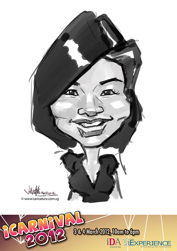 digital live caricature for iCarnival 2012  (IDA) - Day 2 - 74