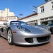 Porsche Carrera GT in GT Silver Metallic in Beverly Hills California front intake