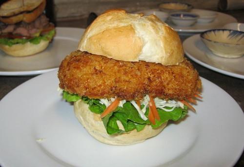 chicken schnitzel burger