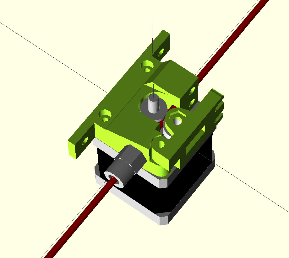 Entwurf Direct Drive Extruder