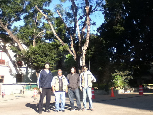 Meeting up with friends from @OaxacaFertil in Oaxaca's Alameda Park