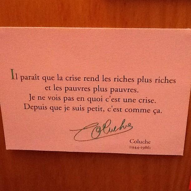 Tu me manques... #crise #coluche #2012