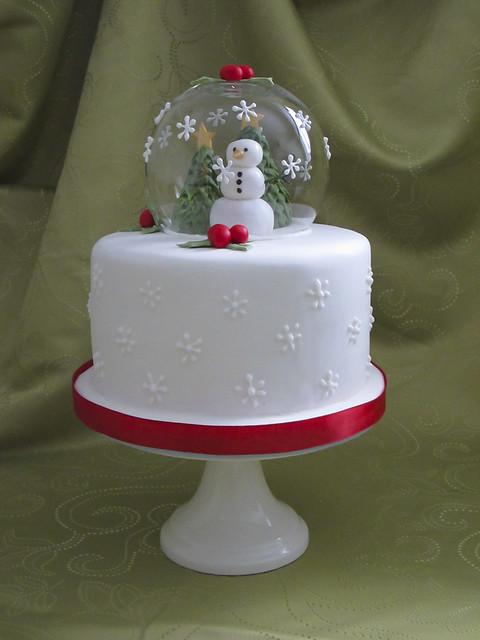 How To Make A Snow Globe Cake