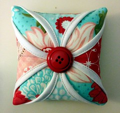 Cathedral window pincushion #1