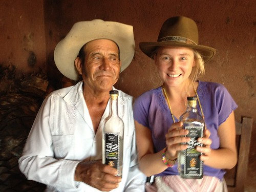 Señor don Lucas and I,, he's a mezcalaro,, the agave fields and production are his & his families. They produce quality mezcal I'm hoping to sell a special edition of!
