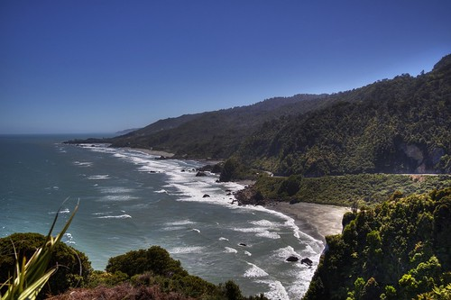 The West Coast of New Zealand's South Island. Capt...