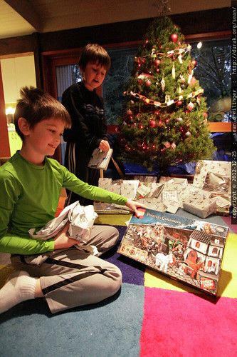 xmas 2012   our first wake up call arrived around 3:00am from an excited kid, but we held out for a 8:30am unwrapping ceremony.    MG 0951