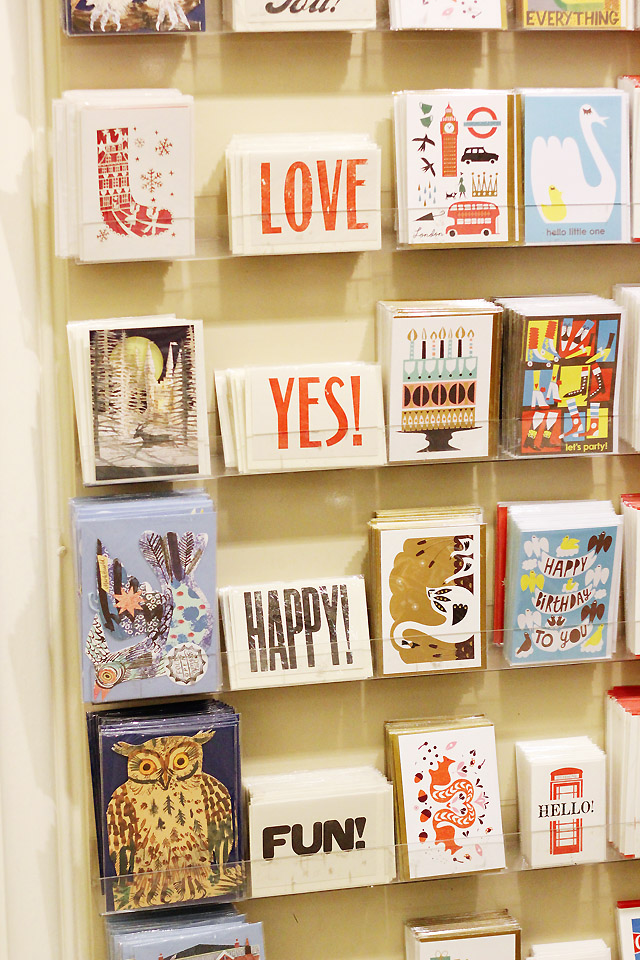 Quirky Cards in the V&A shop