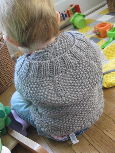 knit hoodie