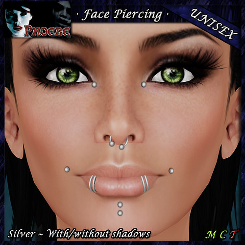 $49l Offer! *P* Unisex Face Piercing K8 ~Silver~