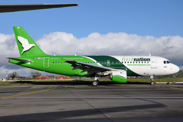 First Nation Airways of Nigeria A319 in Dublin, Ireland