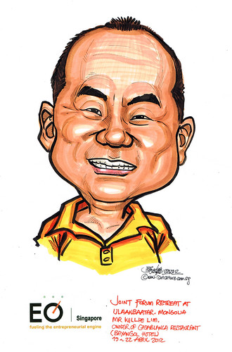 Mr Willie Lim caricature for EO Singapore
