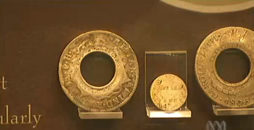 Australian Mint holey dollar exhibit