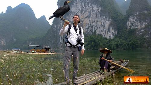 Pescador con cormoranes