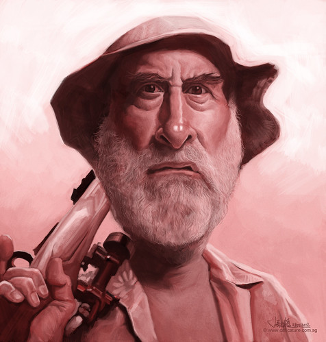 digital caricature of Dale