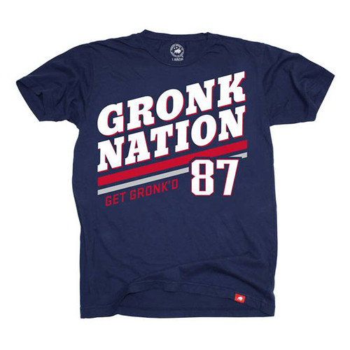 "Rob Gronkowski #87 Gronk Nation ""Get Gronk'd"" Vintage Navy Washed T-shirt"