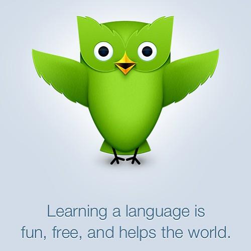 www.duolingo.com (appen) är min nya lilla hobby.