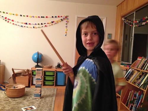 he got a new cloak