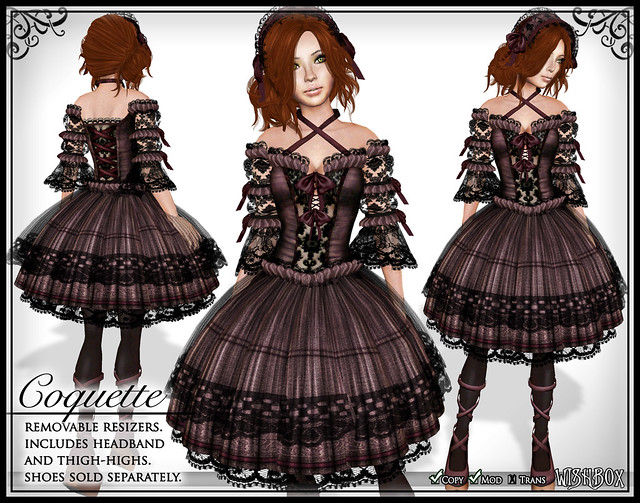 Coquette (Plum) Gothic Lolita Dress in Second Life