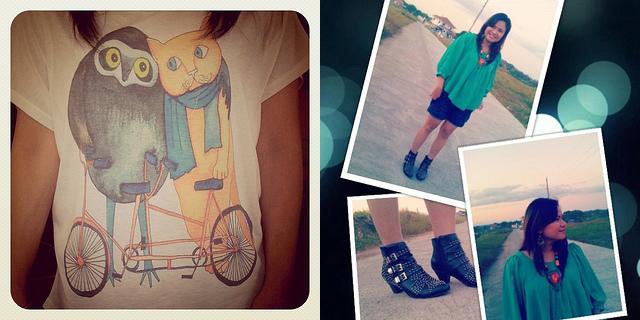 cute shirt + boots