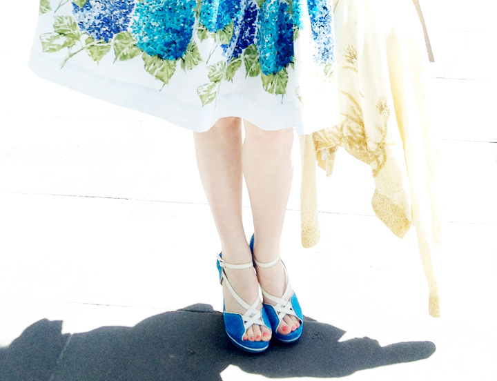 vintage hydrangea dress c