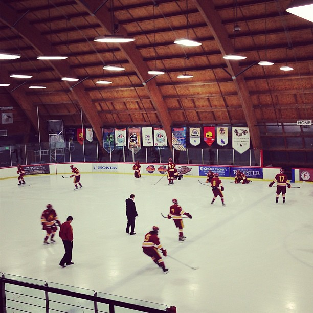 Yes, USC has an ice hockey team. Game vs. UCLA tonight!