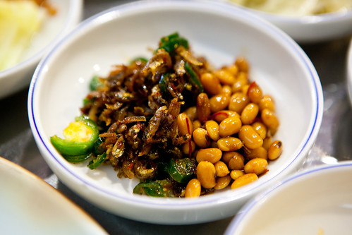 Fermented soybeans with fried, dried minced anchony and jalapeño peppers
