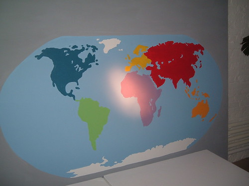 World Map Mural Painting