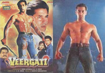Salman Khan of 1995, in the movie Veergati