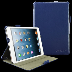 caseen Navy Blue SOFT SNAP Multi Angle Stand Hand Strap & Auto Sleep/Wake Case Cover for Apple iPad Mini
