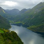 The boat to Geiranger, Geirangerfjord, Norway (Unesco world heritage)