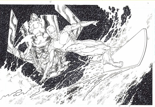 Silver Surfer and Galactus by Pat Broderick