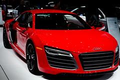 executive car(0.0), city car(0.0), automobile(1.0), automotive exterior(1.0), exhibition(1.0), wheel(1.0), vehicle(1.0), automotive design(1.0), auto show(1.0), audi r8(1.0), audi e-tron(1.0), concept car(1.0), land vehicle(1.0), sports car(1.0),