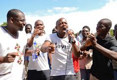 Protestors at a Jan. 17 rally sing songs against Malawi's president, Joyce Banda. Credit: Mabvuto Banda/IPS