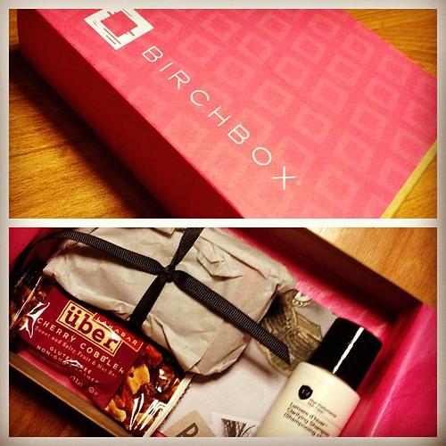 My first Birchbox! Thanks, @calamityjennie. â¤
