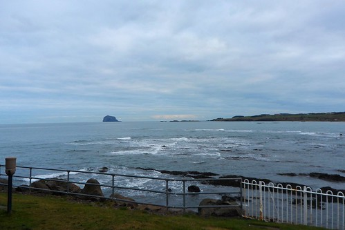 Looking toward the Bass Rock from North Berwick
