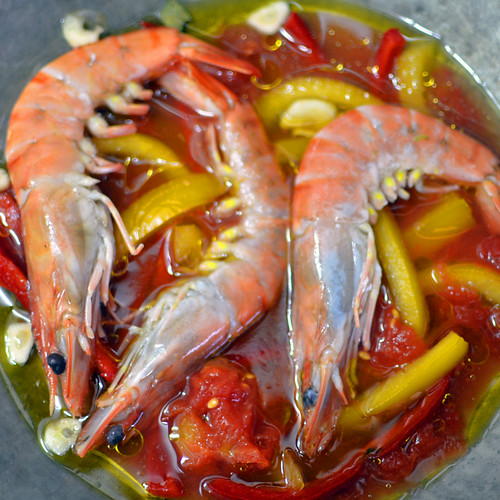 Earth & Sea Shrimps and Peppers by Hugo Alexandre Cruz