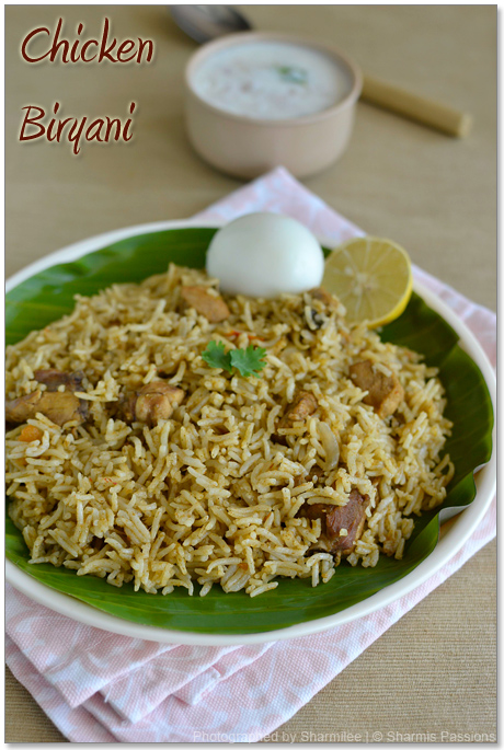 Chicken biryani recipe how to make chicken biryani sharmis passions chicken biryani recipe forumfinder Images