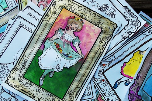 another example - the gold frame is gold watercolor.