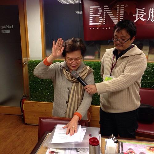 BNI長勝分會:新會員鍾靖汝宣誓加入 by bangdoll@flickr
