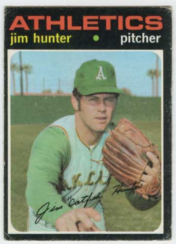 1971 Topps Catfish Hunter