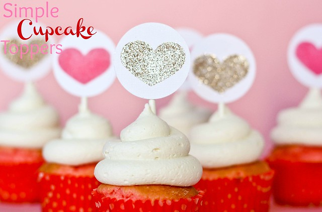 Silhouette Simple Cupcake Toppers