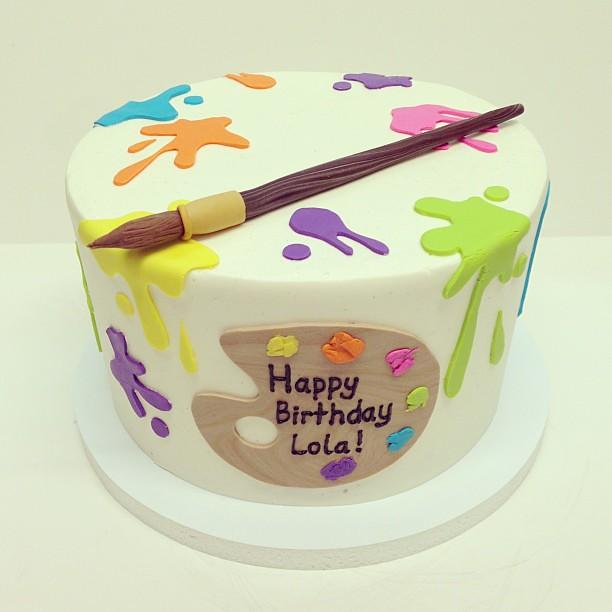 Cake With Artist Palette : Artist palette birthday cake #austin # ...