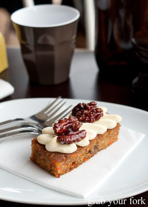 carrot cake at excelsior jones ashfield