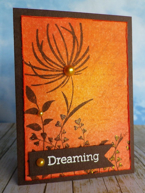 Dreaming of Summer Sunsets - ATC sent to Linda