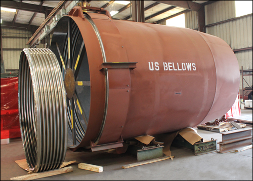 "102"" Dia. Single Hinged Expansion Joint and Duct Work Assembly"