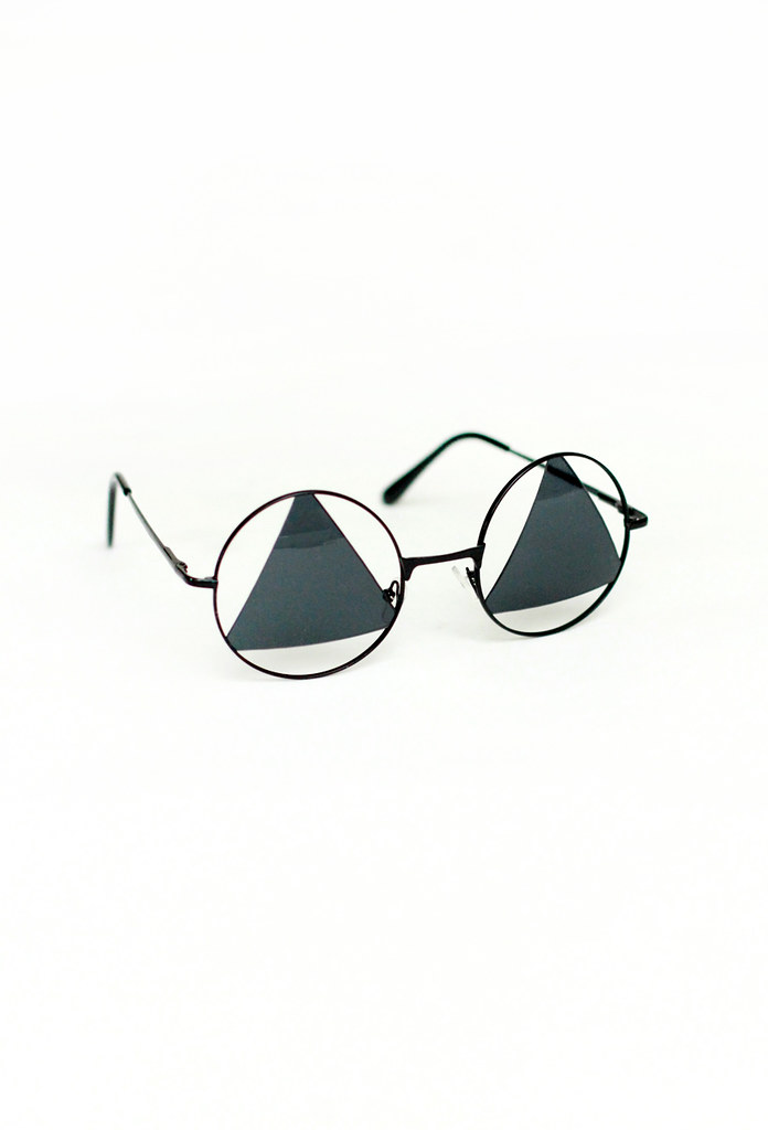 triangle cut out sunglasses by Tarte Vintage at shoptarte.com